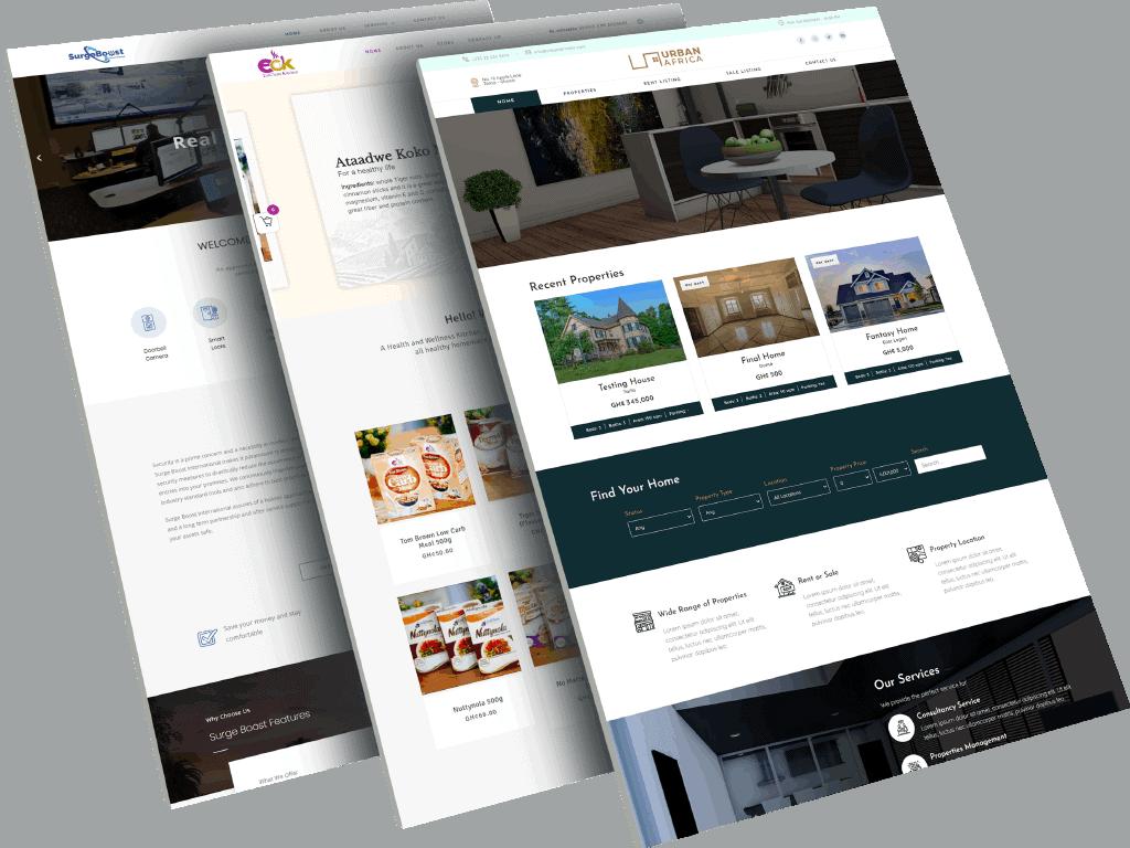 SenBa Solutions - Web design company Portfolio